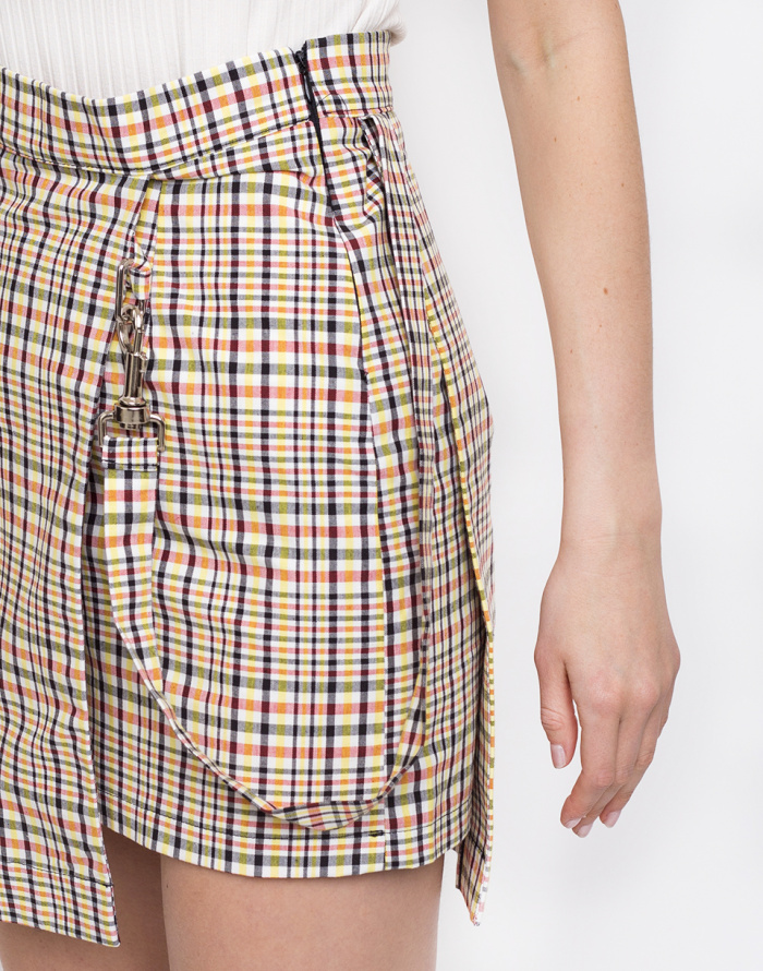 Sukně - The Ragged Priest - Check Double Layer Mini Skirt