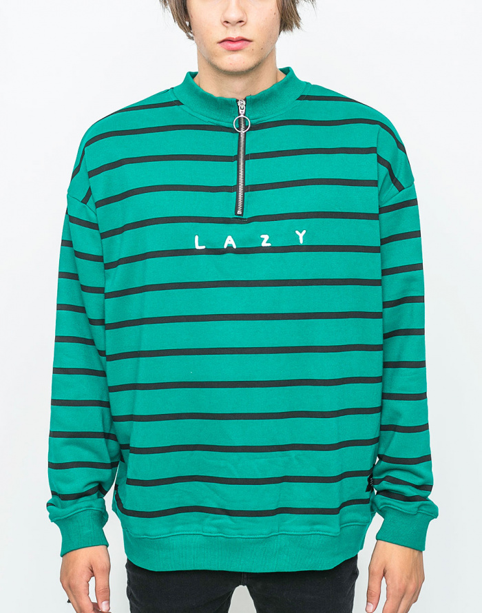 Mikina Lazy Oaf Green Stripe