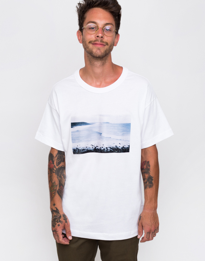 Triko - Knowledge Cotton - Oversized Photo Printed T-shirt