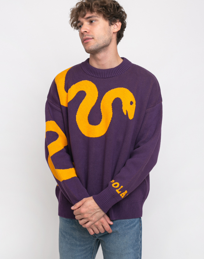 Svetr Polar Skate Co. Snake Knit Sweater
