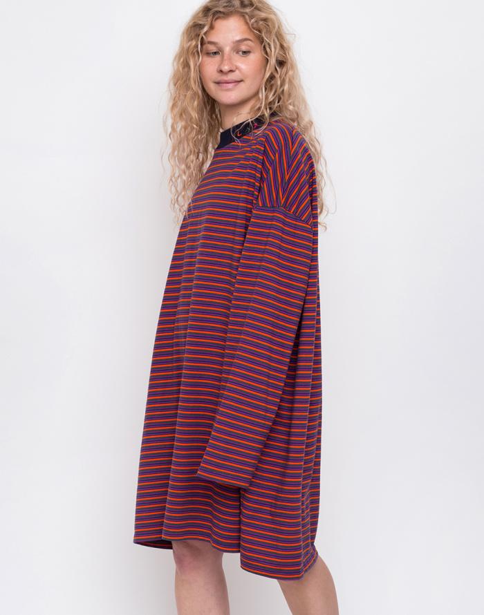 Šaty - Lazy Oaf - Tiny Stripe Oversized T-shirt Dress
