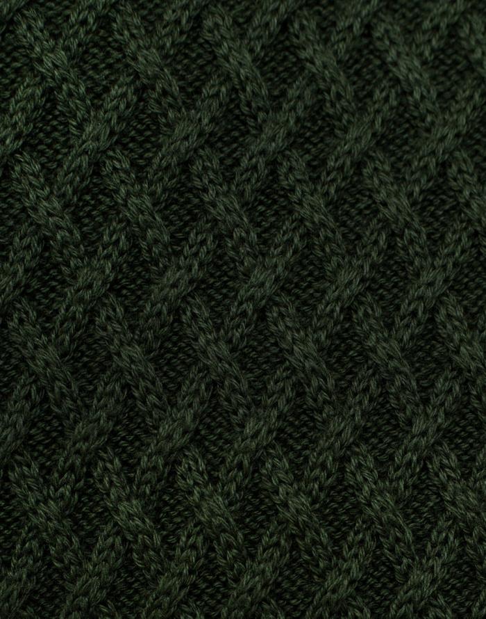Svetr - Knowledge Cotton - Small Diamond Knit