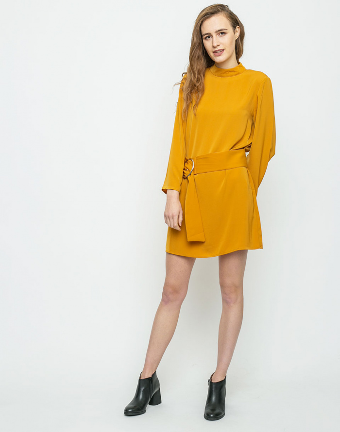 Šaty - Neon Rose - Belted Swing
