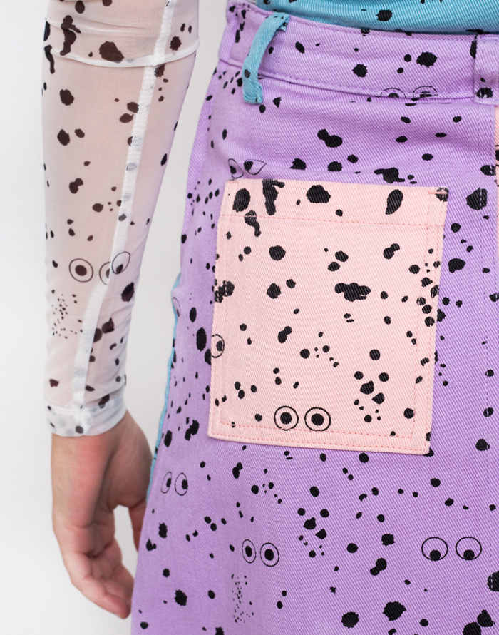 Šaty - Lazy Oaf - Lazy Oaf X Studio Arhoj Pinafore Dress