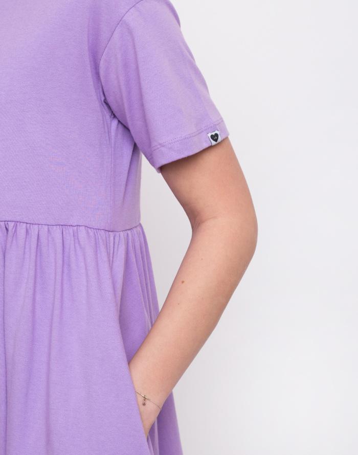 Šaty - Lazy Oaf - Lilac Short Sleeve Sally Dress