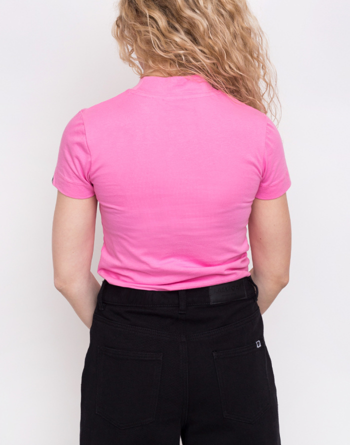 Triko - Lazy Oaf - Pink Fitted Tee