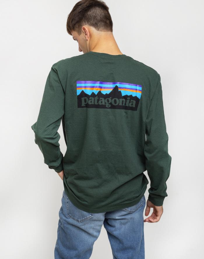Patagonia Mens Ms L//S P-6 Logo Responsibili-tee Long-Sleeved t-Shirt