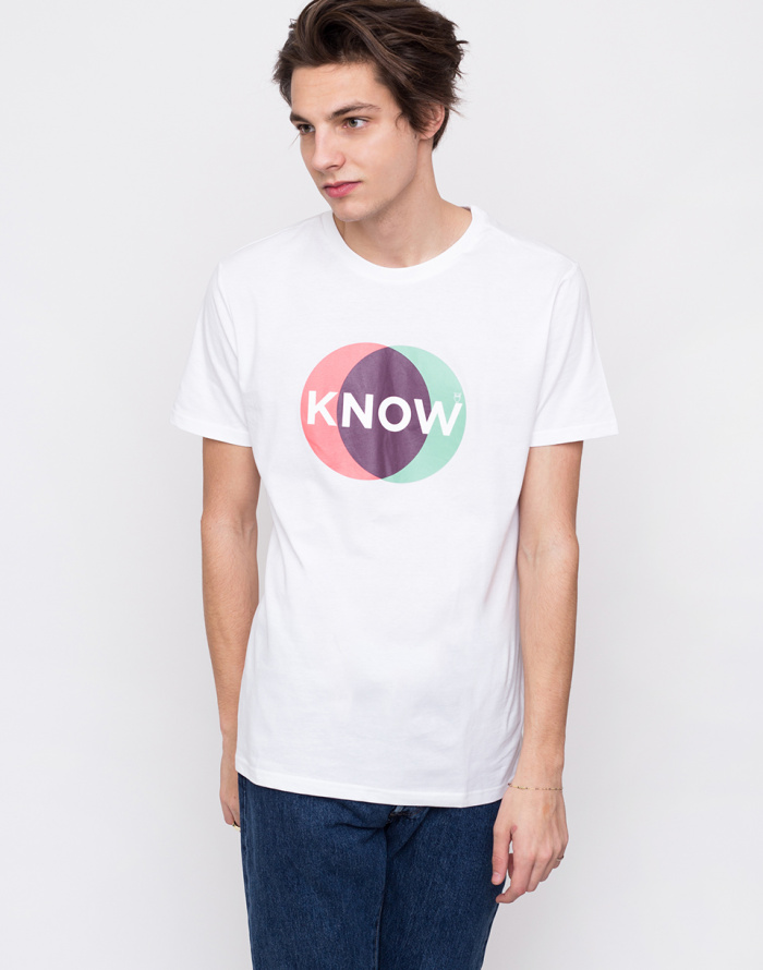 Triko - Knowledge Cotton - T-shirt With Know Print