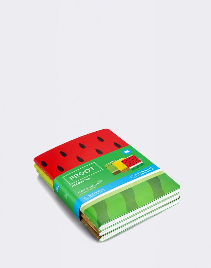 Dárkový set - Just Mustard - Froot Notebooks