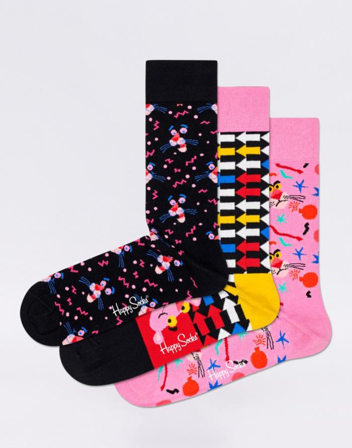 Dárkový set Happy Socks 3-Pack Pink Panther Box