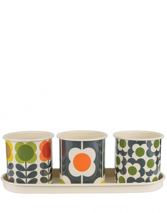 Dárkový set - W & W - 3 Herbs Pots with tray