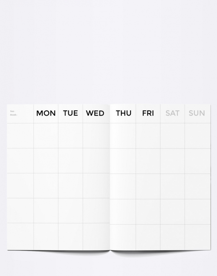 Octagon - Small Timeless Monthly Planner