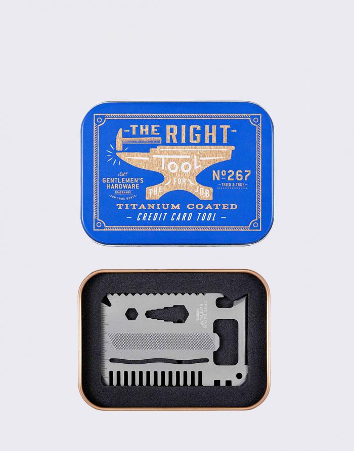 Cyklo gadget - W & W - Credit Card Tool Titanium Finish