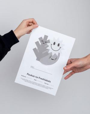 Dárkový poukaz - Freshlabels - Elektronický v hodnotě 5000 Kč / Emil Taschka