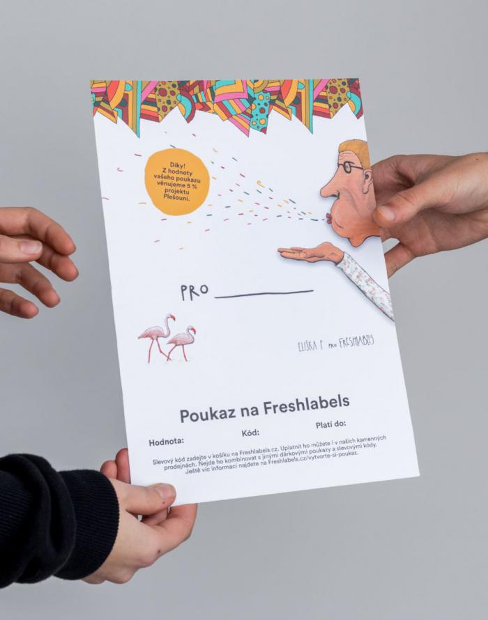 Dárkový poukaz - Freshlabels - Elektronický v hodnotě 500 Kč / Eliška P.