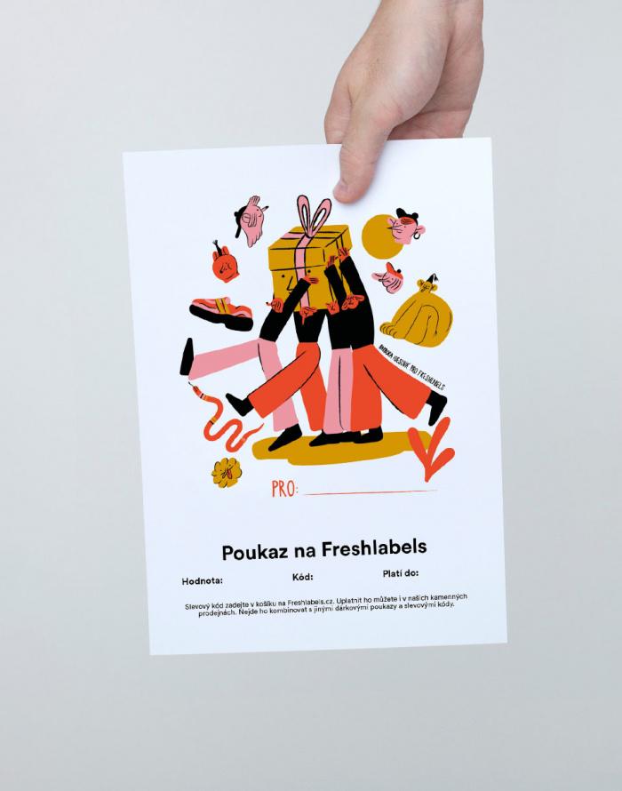 Dárkový poukaz Freshlabels Elektronický dárkový poukaz